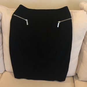 LIKE NEW Michael Kors Black Stretch Pencil Skirt